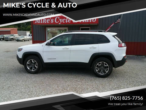 2019 Jeep Cherokee for sale at MIKE'S CYCLE & AUTO in Connersville IN