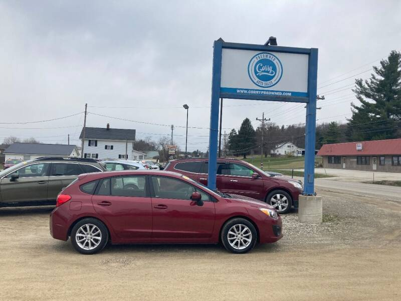 2014 Subaru Impreza for sale at Corry Pre Owned Auto Sales in Corry PA
