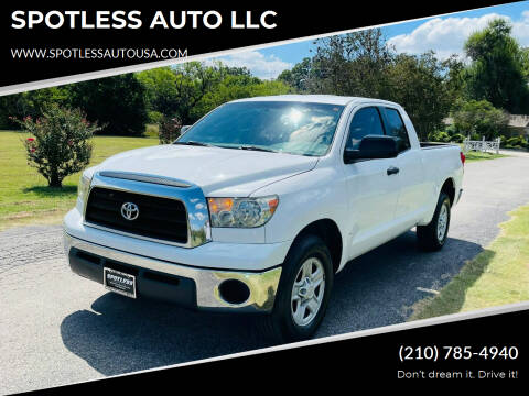 2008 Toyota Tundra for sale at SPOTLESS AUTO LLC in San Antonio TX