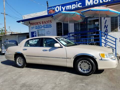 2000 Lincoln Town Car for sale at Olympic Motors in Los Angeles CA