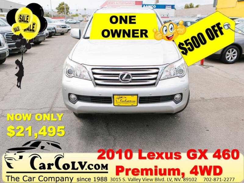 2010 Lexus GX 460 for sale at The Car Company in Las Vegas NV