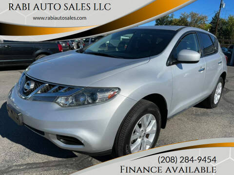2012 Nissan Murano for sale at RABI AUTO SALES LLC in Garden City ID