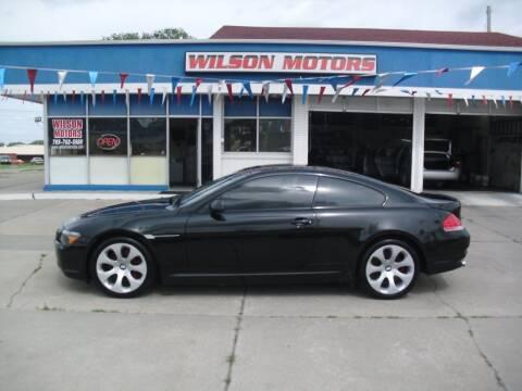 2005 BMW 6 Series for sale at Wilson Motors in Junction City KS