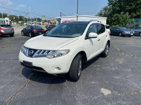 2010 Nissan Murano for sale at M & J Auto Sales in Attleboro MA