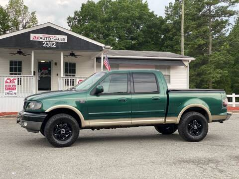 2001 Ford F-150 for sale at CVC AUTO SALES in Durham NC