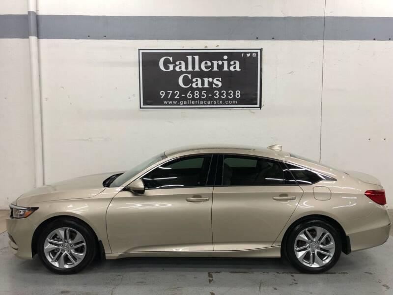2019 Honda Accord for sale at Galleria Cars in Dallas TX