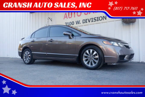 2010 Honda Civic for sale at CRANSH AUTO SALES, INC in Arlington TX