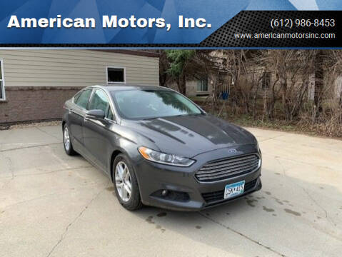2015 Ford Fusion for sale at American Motors, Inc. in Farmington MN
