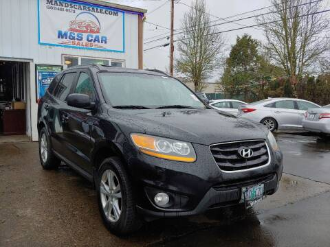 2010 Hyundai Santa Fe for sale at M AND S CAR SALES LLC in Independence OR