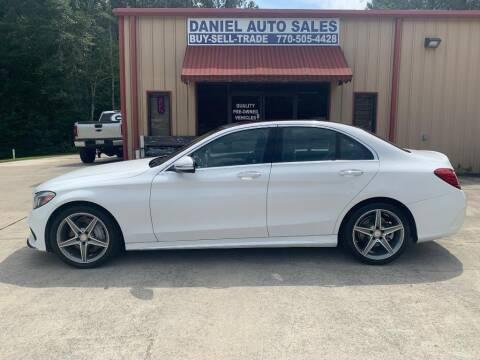 2015 Mercedes-Benz C-Class for sale at Daniel Used Auto Sales in Dallas GA