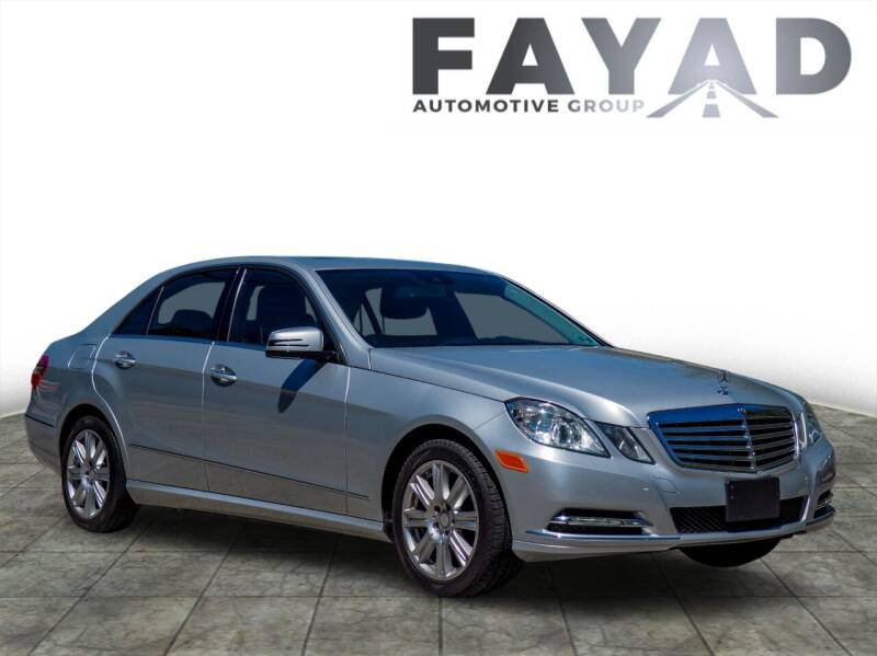 2013 Mercedes-Benz E-Class for sale at FAYAD AUTOMOTIVE GROUP in Pittsburgh PA