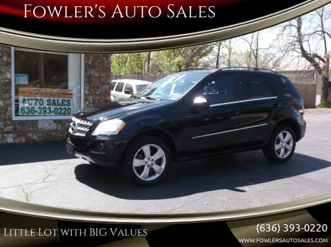 2010 Mercedes-Benz M-Class for sale at Fowler's Auto Sales in Pacific MO