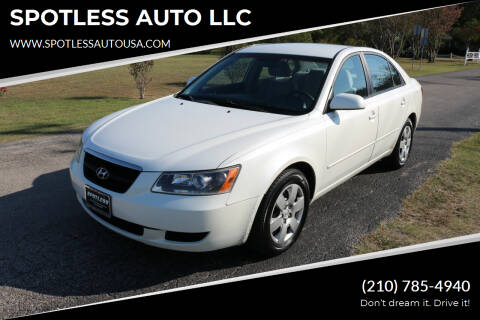 2006 Hyundai Sonata for sale at SPOTLESS AUTO LLC in San Antonio TX
