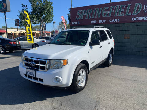 2008 Ford Escape for sale at SPRINGFIELD BROTHERS LLC in Fullerton CA