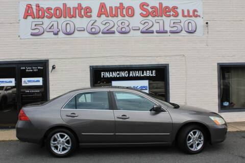 2006 Honda Accord for sale at Absolute Auto Sales in Fredericksburg VA