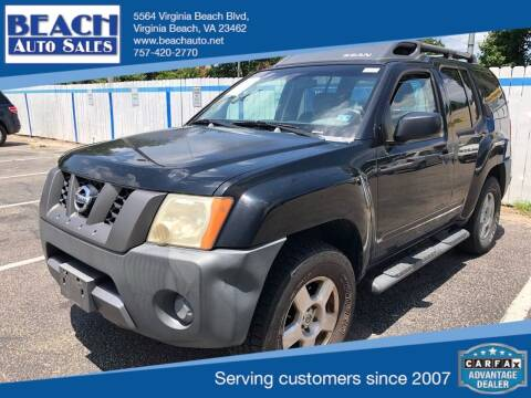 2007 Nissan Xterra for sale at Beach Auto Sales in Virginia Beach VA