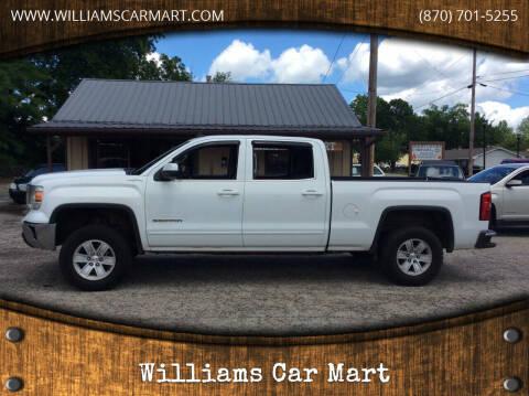 2014 GMC Sierra 1500 for sale at WILLIAMS CAR MART in Gassville AR