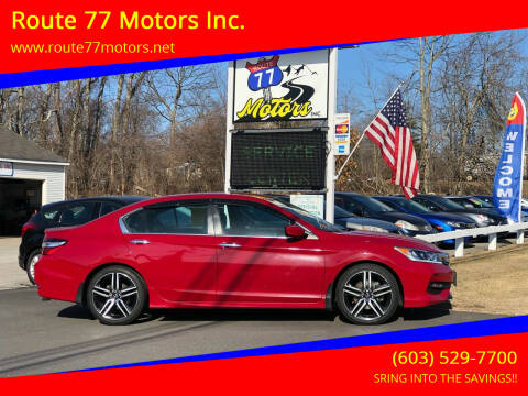 2017 Honda Accord for sale at Route 77 Motors Inc. in Weare NH