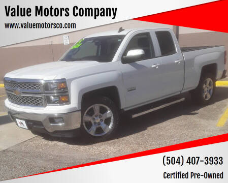2015 Chevrolet Silverado 1500 for sale at Value Motors Company in Marrero LA