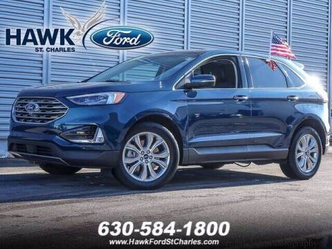 2020 Ford Edge for sale at Hawk Ford of St. Charles in St Charles IL