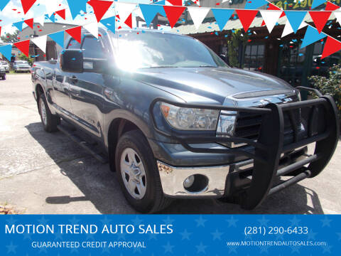 2008 Toyota Tundra for sale at MOTION TREND AUTO SALES in Tomball TX
