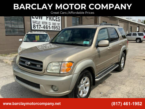 2004 Toyota Sequoia for sale at BARCLAY MOTOR COMPANY in Arlington TX