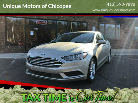 2018 Ford Fusion for sale at Unique Motors of Chicopee in Chicopee MA