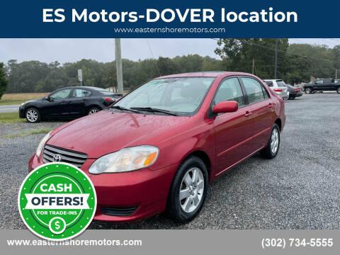 2003 Toyota Corolla for sale at ES Motors-DAGSBORO location - Dover in Dover DE
