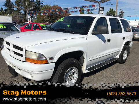 2000 Dodge Durango for sale at Stag Motors in Portland OR
