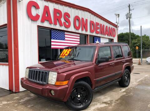 2007 Jeep Commander for sale at Cars On Demand 3 in Pasadena TX