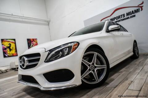 2018 Mercedes-Benz C-Class for sale at AUTO IMPORTS MIAMI in Fort Lauderdale FL