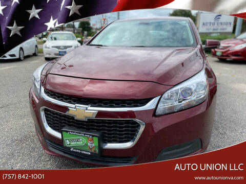 2015 Chevrolet Malibu for sale at Auto Union LLC in Virginia Beach VA