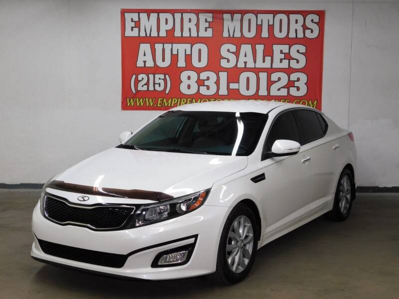 2015 Kia Optima for sale at EMPIRE MOTORS AUTO SALES in Philadelphia PA