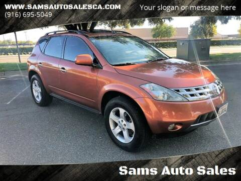 2004 Nissan Murano for sale at Sams Auto Sales in North Highlands CA