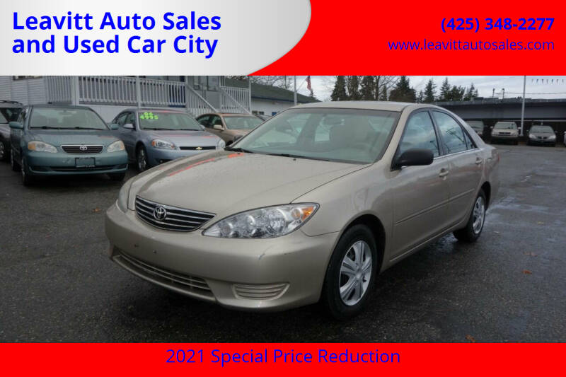 2005 Toyota Camry for sale at Leavitt Auto Sales and Used Car City in Everett WA