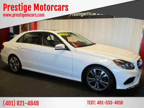 2016 Mercedes-Benz E-Class for sale at Prestige Motorcars in Warwick RI