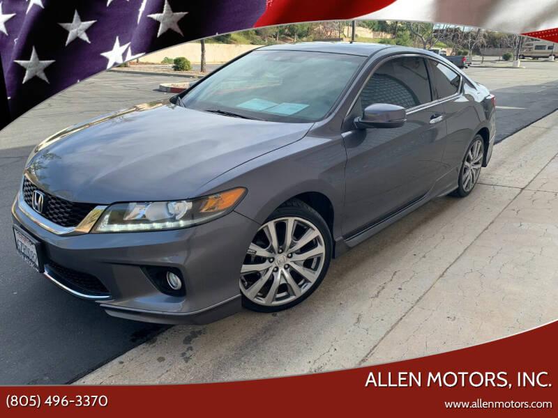 2013 Honda Accord for sale at Allen Motors, Inc. in Thousand Oaks CA