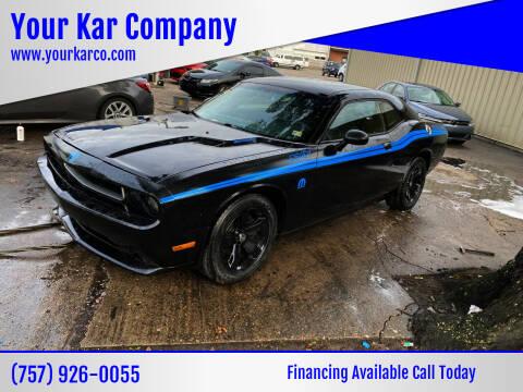 2013 Dodge Challenger for sale at Your Kar Company in Norfolk VA