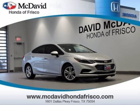 2016 Chevrolet Cruze for sale at DAVID McDAVID HONDA OF IRVING in Irving TX