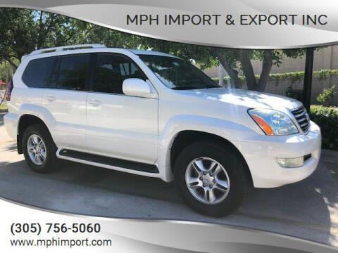 2007 Lexus GX 470 for sale at MPH IMPORT & EXPORT INC in Miami FL