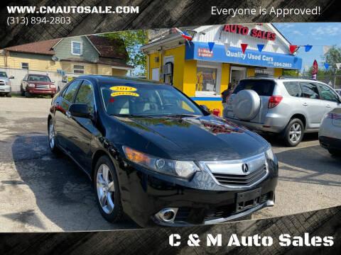 2012 Acura TSX for sale at C & M Auto Sales in Detroit MI