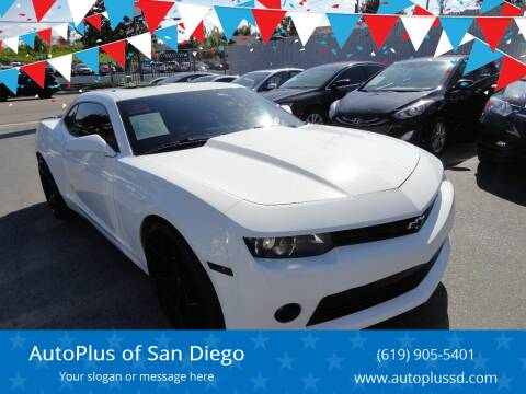 2015 Chevrolet Camaro for sale at AutoPlus of San Diego in Spring Valley CA