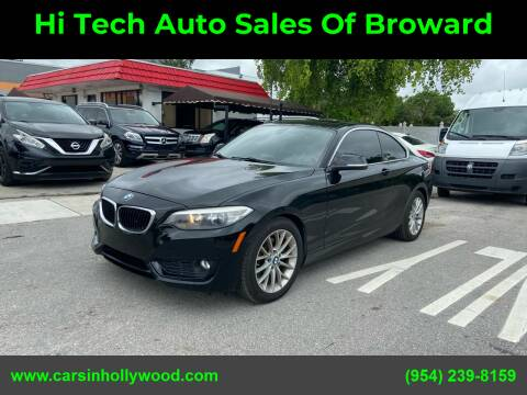 2015 BMW 2 Series for sale at Hi Tech Auto Sales Of Broward in Hollywood FL