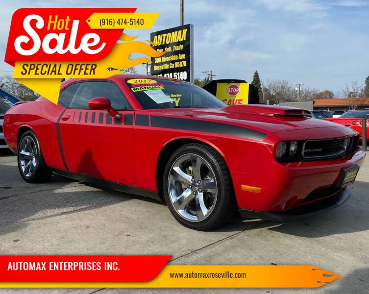 2012 Dodge Challenger for sale at AUTOMAX ENTERPRISES INC. in Roseville CA