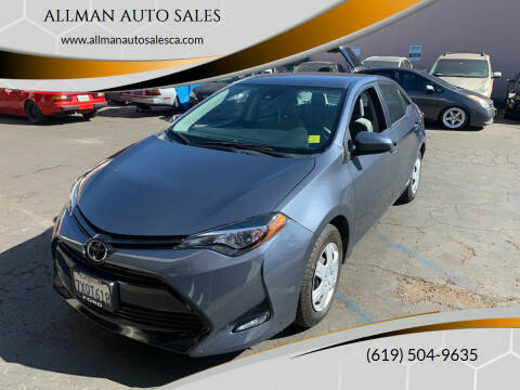 2017 Toyota Corolla for sale at ALLMAN AUTO SALES in San Diego CA