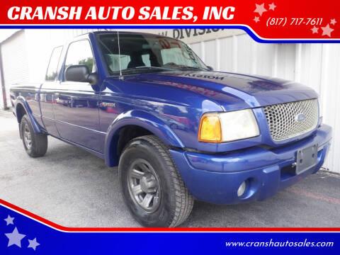 2003 Ford Ranger for sale at CRANSH AUTO SALES, INC in Arlington TX