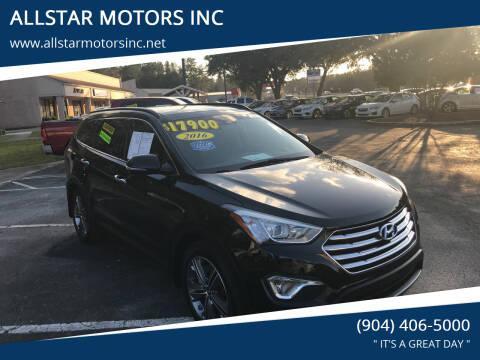 2016 Hyundai Santa Fe for sale at ALLSTAR MOTORS INC in Middleburg FL