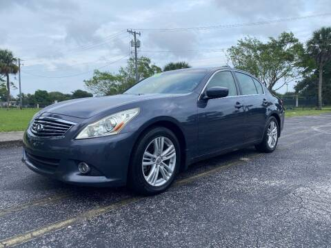 2011 Infiniti G25 Sedan for sale at Lamberti Auto Collection in Plantation FL