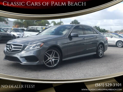 2016 Mercedes-Benz E-Class for sale at Classic Cars of Palm Beach in Jupiter FL