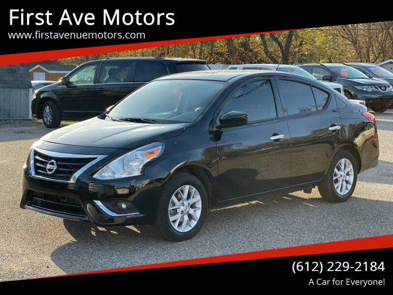 2019 Nissan Versa for sale at First Ave Motors in Shakopee MN